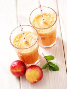 Nectarine Smoothie – Marmiton Cooking Recipe: A Recipe Source by sandrinebenhaim Smoothie King, Smoothie Detox, Smoothie Bowl, Fruit Smoothie Recipes, Fruit Drinks, Juice Smoothie, Healthy Smoothies, Healthy Drinks, Detox Drinks