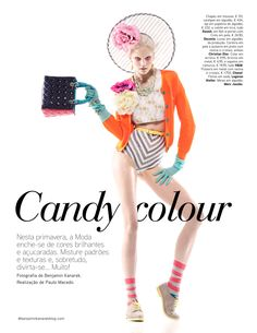 Candy colour - crazy fashion modeling, colors, outfits. Love it, not sure what to do with it, but love it. lol so ridiculous