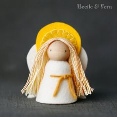 Items similar to Sweet and Simple Peg Doll Nativity, Waldorf-Inspired on Etsy People look East, the time is near For the crowning of the year. Make your house fair as you are able, Deck the hearth and set the table. Nativity Peg Doll, Nativity Crafts, Clothespin Dolls, Christmas Nativity, Christmas Angels, Felt Crafts, Christmas Crafts, Waldorf Crafts, Waldorf Dolls