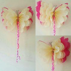 """Un cumpleaños de niñas 14"""" fiesta decoraciones papel pared mariposas infantiles dormitorio boda sweet 16"""