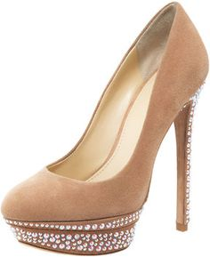 B BRIAN ATWOOD Francoise Platform Pump Beige Suede. I would sell my soul for a closet filled with Brian Atwoods...
