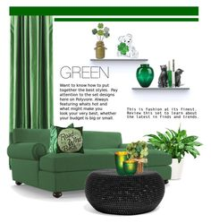 """""""Green. Living. Room."""" by theartbug-home ❤ liked on Polyvore featuring interior, interiors, interior design, home, home decor, interior decorating, Serena & Lily, Joybird Furniture, Cultural Intrigue and Pier 1 Imports"""