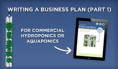 Commercial hydroponics: Writing a Business Plan (Part 1)