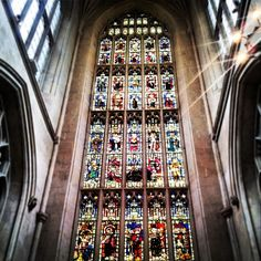 Bath cathedral stained glass - photo by the Madder Hatter