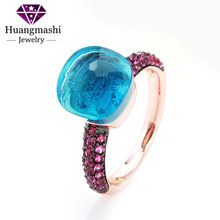 Exquisite Noble Black & Rose Gold Plated With Rose Red Zircon Ring   PR096
