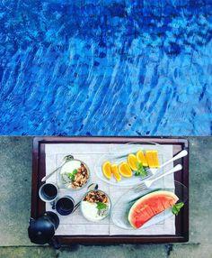 Breakfast near the pool