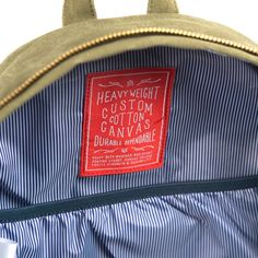 Herschel Supply Co Cotton Canvas Collection - Labels on Behance