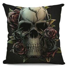 Punk Skull Decorative Pillow Case