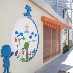 Decoração Fachadas Comerciais Fachada adelleporto 14429 Preschool Decor, Kindergarten Design, Kids Class, Kids Room Art, School Decorations, Kids Church, Play To Learn, I School, School Design