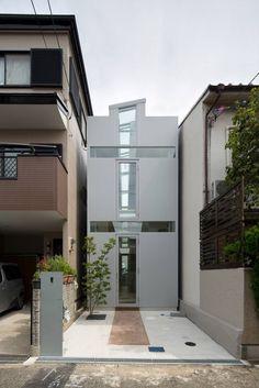 New Ideas Apartment Building Design Architecture Small Spaces Modern Architecture Design, Space Architecture, Facade Design, Dream House Exterior, Dream House Plans, Building Design, Building A House, Narrow House Designs, Modern Townhouse