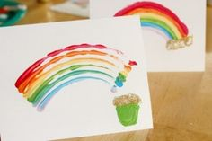Tutorial : How to Make a QTips Rainbow Paint for Saint Patty's Day