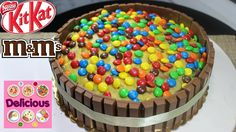 Homemade M&Ms and KitKat Cake Recipe - How to make M&Ms and KitKat Cake - Delicious 12th Birthday Cake, Chocolate, Themed Cakes, Sprinkles, Cake Recipes, Candy, Homemade, Breakfast, Desserts