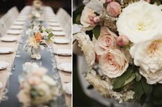 Elegantly rustic wedding table decor - Robinswood House in Bellevue, Washington - photos by Sean Flanigan, http://seanflanigan.net