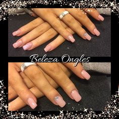 Gel ongles rose pastel