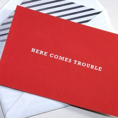 Here Comes Trouble Kate Spade Invitations
