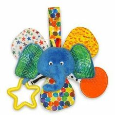 Eric Carle The Very Hungry Caterpillar Mirror Teether Rattle - Blue Elephant by Kids Preferred. $15.99. These colorful mirror teether rattles are inspired by the works of Eric Carle. Each animal contains a rattle, crinkle and a mirror to entertain those with even the smallest of hands.