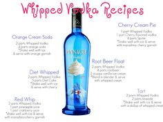 livin the glam life: Whipped Vodka Recipes