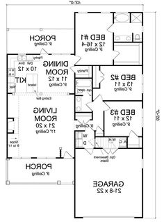 Plan No242334 House Plans By WestHomePlanners