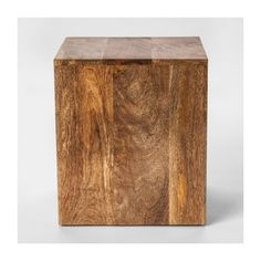 Square Wood Accent Table - Threshold™ : Target ($35) ❤ liked on Polyvore featuring home, furniture, tables, accent tables, wood accent furniture, square accent table, wood accent table and square table