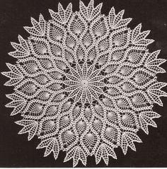 crochet doily diagrams | Details about Vintage Crochet Pineapple Doily Centerpiece PATTERN