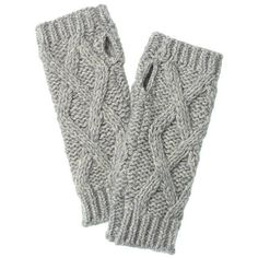 Victoria's Secret Cozy Cableknit Arm Warmers ($25) ❤ liked on Polyvore featuring intimates, hosiery, accessories, gloves, victoria's secret and victoria secret hosiery