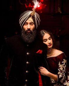 Sikh Bride, Sikh Wedding, Wedding Groom, Groom Outfit, Groom Attire, Groom Trends, Fashion Editorial Couple, Indian Groom Wear, Groom Accessories