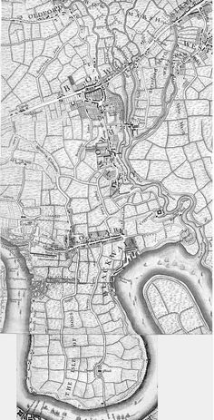1745 map Poplar, Bow, Isle of Dogs London East End London, London Map, Old London, London Pictures, London Photos, Historical Maps, Historical Pictures, London Docklands, Isle Of Dogs