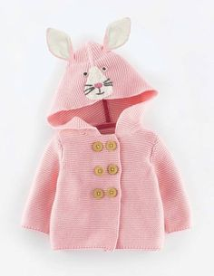 Bunny Hooded Cardigan Sweater