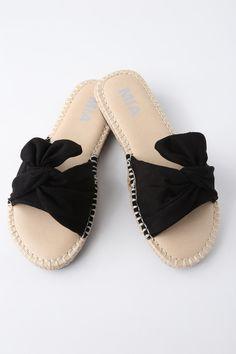 Lulus Bobbi Orchid Suede Leather Espadrille Slides - Lulus Af90yTiJ