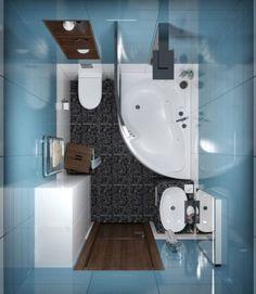 Cuarto de baño pequeño con tina y ducha 002