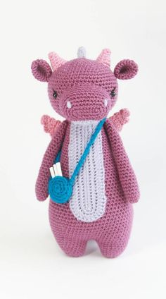 Dragon crochet pattern by Little Bear Crochets: www.littlebearcrochets.com ❤️ #littlebearcrochets #amigurumi