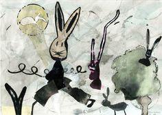 """Dibujo a partir del azar y de la mancha. """"Colección de bichejos"""" Maitane Aramburu. 1º Bachillerato Artístico. IES. Usandizaga 2014"""