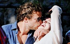 """Lana and Francesco """"I remember the time when a kiss on the..."""