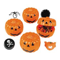 Toy-Filled Jack-O'-Lanterns - OrientalTrading.com $10.50  .........READ THE REVIEWS FOR A COUPLE GREAT IDEAS......