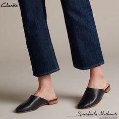 Clark's Pure Blush Mules Black Leather Mules, Black Leather Dresses, Mules Shoes, Heeled Mules, Women's Shoes, Sandals, Clarks, Womens Flats, Fashion Shoes