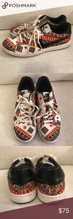 Nike Liberty Tennis Sneaker. Size 7.5 Nike Liberty print sneaker. Size 7.5. I've only worn a few times so they're in very good condition. They're really cute with jeans or even a dress. Reasonable offers welcome.) Nike Shoes Sneakers