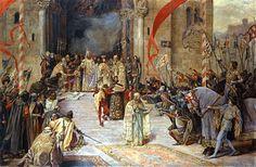 Coronation of Tsar Dusan by Paja (Paul) Jovanovic.  National museum of Serbia