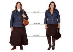 Style Fashion Tips .Style Fashion Tips Short Girl Fashion, Chubby Fashion, 60 Fashion, Skirt Fashion, Plus Size Fashion, Fashion Outfits, Womens Fashion, Fashion Tips, Ladies Fashion
