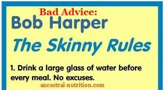 Why You Shouldn't Drink Water With Meals / http://ancestral-nutrition.com/dont-drink-water-with-meals/