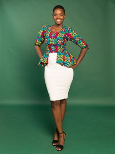 The Palah Peplum  ~DKK ~ Latest African fashion, Ankara, kitenge, African women dresses, African prints, African men's fashion, Nigerian style, Ghanaian fashion.