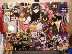 TOKIDOKI COLLECTOR TIN & MAGNET (FROM THE ROBBERY COLLECTION) FREE SHIPPING! $23