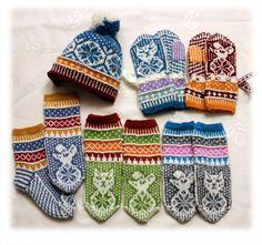 Veslepus og musungen lue, sokker og votter Diy And Crafts, Gloves, Animal, Knitting, Threading, Tricot, Breien, Stricken, Weaving