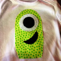 WE . I . RICH: My DIY Halloween Monster Onesie. I'm going to add a bow to make it for a girl.