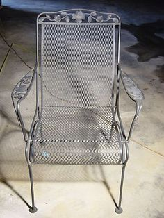 Lovely Wrought Iron Mesh Patio Furniture