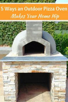 We've gathered 5 ways an outdoor pizza oven can make your home the hippest spot on the block. Let's get started. #mortonstones #pizzaoven #home #exterior #garden #backyard #brick #tiles #brickveneer #outdoor #homeides #décor #rustic #thinbrick #outdoor #brickoven