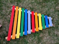 And Next Comes L: Homemade Rainbow Xylophone - See post for how to make one {Music Fun for Your Little One series by And Next Comes L and House of Burke}