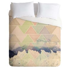 Maybe Sparrow Photography Geometric Alaska Duvet Cover | DENY Designs Home Accessories