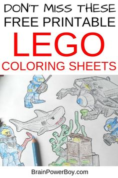 Be sure to print these LEGO coloring sheets! They are official LEGO coloring printables that are totally free!  Over 180 to choose from. Click to print now. #LEGOcoloring #LEGO #coloringsheets Lego Activities, Printable Activities For Kids, Free Printables, Lego Coloring Pages, Coloring Books, Colouring, Coloring Sheets For Boys, Lego Books, Used Legos