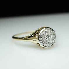 Antique Engagement Ring Diamond Wedding Ring by JoyGlowJewelry