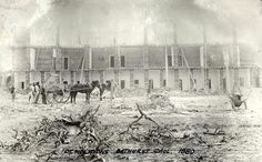 Bathurst Gaol demolitions in c1880.